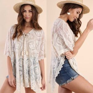 Umgee Lace Coverup Tunic